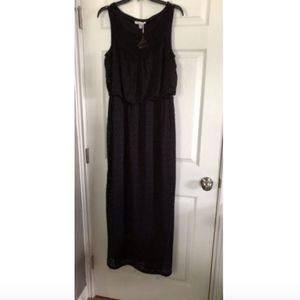 London Times Black Maxi Dress - 12